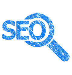 Seo tool grunge icon vector