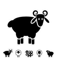 Sheep or ram icon logo template pictogram vector