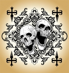 skull tattoo vector image