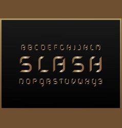 slash gold alphabet letters vector image