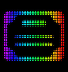 Spectral colored pixel license icon vector