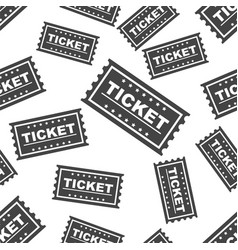ticket seamless pattern background icon flat vector image