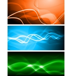 vibrant banners vector image