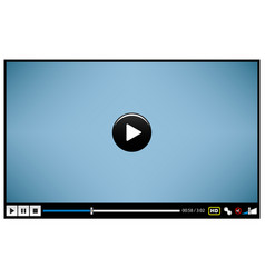 video movie media player video player design vector image