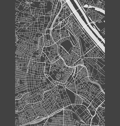 Vienna city plan detailed map vector