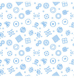 vr pattern virtual reality linear seamless vector image