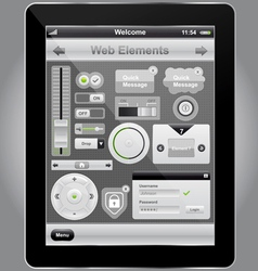 web and mobile interface vector image