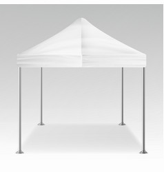 white folding tent outdoor pavilion vector image