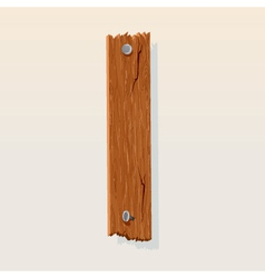 Wooden letter i vector