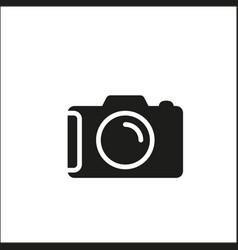 camera black of icon vector image
