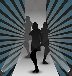 fashion show silhouette vector image