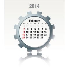 February 2014 - calendar vector image vector image
