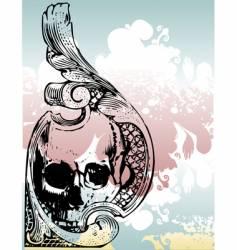 Money grunge skull vector