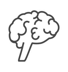 Brain Line Icon vector image vector image