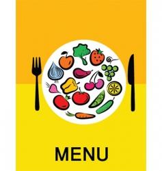 vegetables in dinner vector image vector image