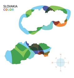 Abstract color map of Slovakia vector image vector image