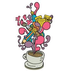 coffee cup series creativity vector image vector image