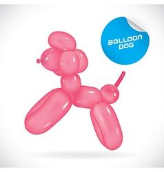 Glossy Balloon Dog vector image vector image