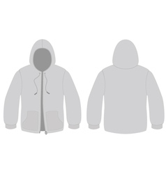 hooded sweater template vector image vector image