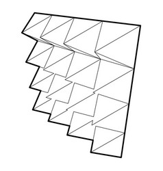 Studio insulation icon outline style vector