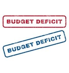 Budget deficit rubber stamps vector