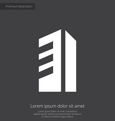 building premium icon white on dark background vector image vector image