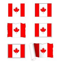 Canada flag set vector image vector image