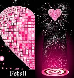 disco heart vector image vector image