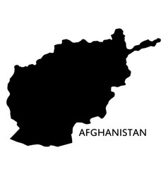 map afghanistan on white background vector image