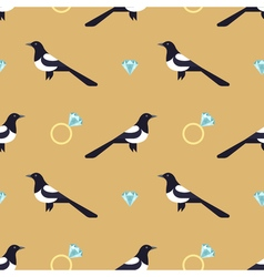 seamless pattern with luxury golden rings and vector image