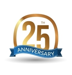 25 years anniversary experience gold label vector