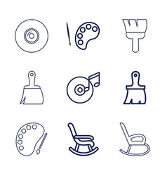 9 artistic icons vector