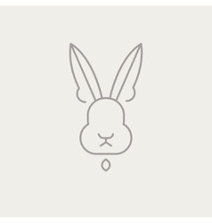 Abstract Line Drawing Of Rabbit Head vector