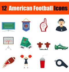 American football icon vector