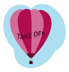 Balloon Take Off vector image