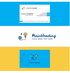 beautiful energy power logo and business card vector image