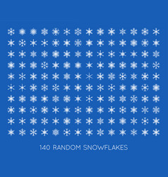 big set of snowflakes vector image