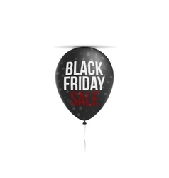 Black Friday Sale Text on realistic Balloon vector image