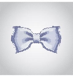 Blue bow isolated vector image