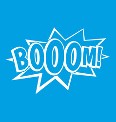 Boom explosion bubble icon white vector