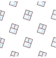 Broken window icon in cartoon style isolated on vector