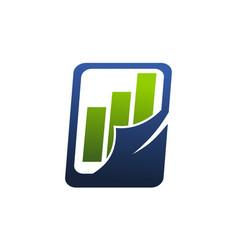 business report logo design template vector image