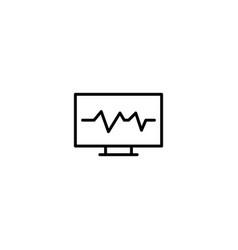 cardioloty cardiogram icon vector image