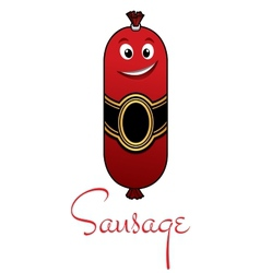 Cartoon meaty sausage vector