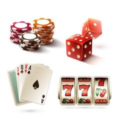 Casino design elements vector image