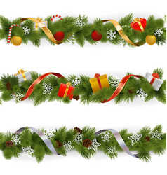 Christmas Border Set 3 vector image