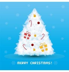 Christmas tree card3 vector image