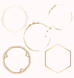 collection abstract golden frames for design vector image