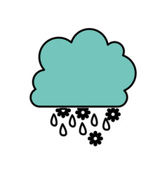 color cloud rainning and snowing icon vector image