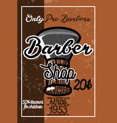 Color vintage barber shop banner vector